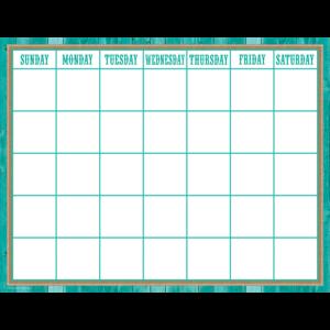 TCR7759 Shabby Chic Calendar Chart Image