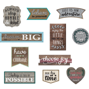 TCR77875 Clingy Thingies: Home Sweet Classroom Positive Sayings Accents Image