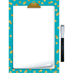 TCR77890 Clingy Thingies Teal Confetti Small Note Sheet Image