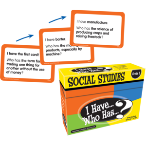 TCR7863 I Have, Who Has Social Studies Game Grade 2 Image