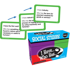 TCR7864 I Have, Who Has Social Studies Game Grade 3 Image