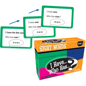 TCR7869 I Have, Who Has Sight Words Game Grade 1 Image