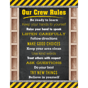TCR7945 Under Construction Our Crew Rules Chart Image