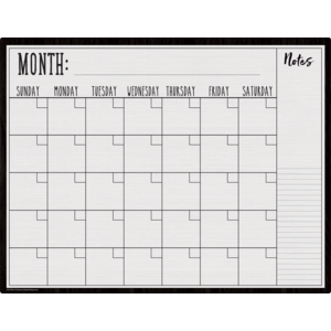 TCR7960 Modern Farmhouse Calendar Write-On/Wipe-Off Chart Image