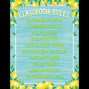 TCR7962 Lemon Zest Classroom Rules Chart Image