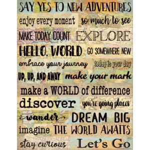 TCR7965 Travel the Map New Adventures Chart Image