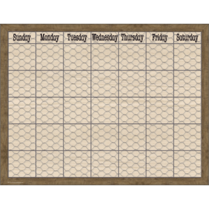 TCR7975 Home Sweet Classroom Chicken Wire Calendar Chart Image