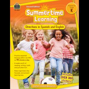 TCR8009 Summertime Learning Grade K - Spanish Directions Image