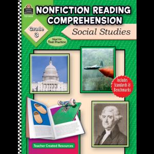 TCR8024 Nonfiction Reading Comprehension: Social Studies, Grade 3 Image