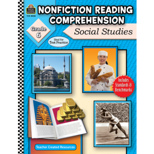 TCR8038 Nonfiction Reading Comprehension: Social Studies, Grade 6 Image