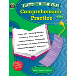TCR8043 Strategies that Work: Comprehension Practice, Grade 3 Image