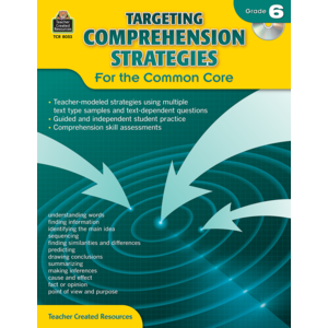 TCR8053 Targeting Comprehension Strategies for the Common Core Grade 6 Image