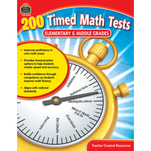 TCR8069 200 Timed Math Tests: Elementary & Middle Grades Image
