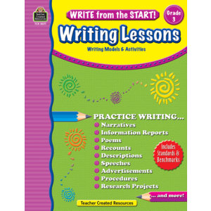 TCR8071 Write from the Start! Writing Lessons Grade 3 Image