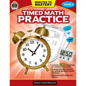 TCR8081 Minutes to Mastery - Timed Math Practice Grade 2 Image