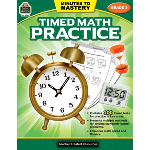 TCR8082 Minutes to Mastery - Timed Math Practice Grade 3 Image