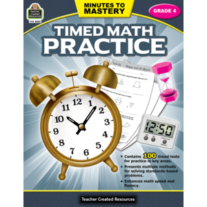 TCR8083 Minutes to Mastery - Timed Math Practice Grade 4 Image