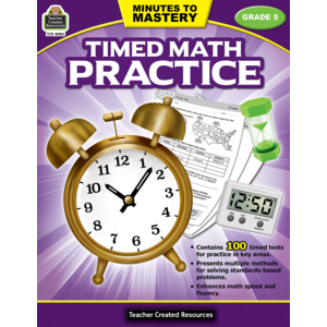 TCR8084 Minutes to Mastery - Timed Math Practice Grade 5 Image