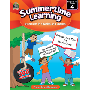 TCR8097 Summertime Learning Grade 4 - Spanish Directions Image