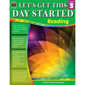 TCR8125 Let's Get This Day Started: Reading Grade 3 Image