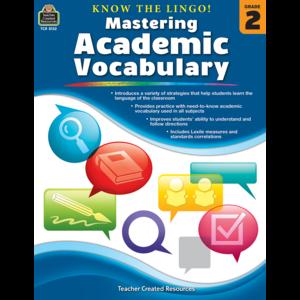 TCR8132 Know the Lingo! Mastering Academic Vocabulary Grade 2 Image