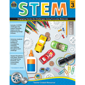 TCR8183 STEM: Engaging Hands-On Challenges Using Everyday Materials Grade 3 Image