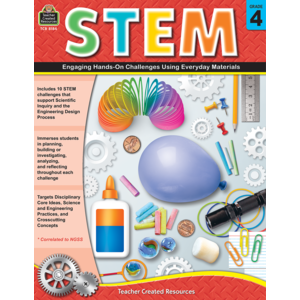 TCR8184 STEM: Engaging Hands-On Challenges Using Everyday Materials Grade 4 Image