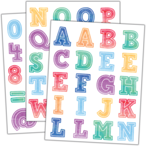 TCR8196 Watercolor Alphabet Stickers Image
