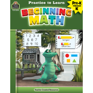 TCR8204 Practice to Learn: Beginning Math Grades PreK-K Image