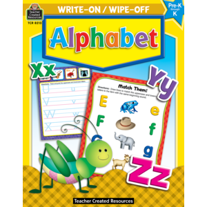 TCR8213 Alphabet Write-On Wipe-Off Book Image