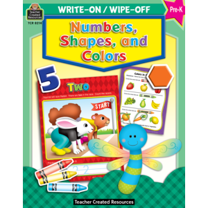 TCR8214 Numbers, Shapes and Colors Write-On Wipe-Off Book Image