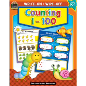 TCR8220 Counting 1-100 Write-On/Wipe-Off Book Image