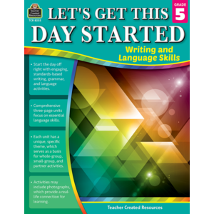 TCR8255 Let's Get This Day Started: Writing and Language Skills Grade 5 Image