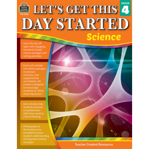 TCR8264 Let's Get This Day Started: Science Gr 4 Image