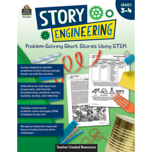 TCR8274 Story Engineering: Problem-Solving Short Stories Using STEM (Gr. 3–4) Image