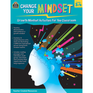 TCR8310 Change Your Mindset: Growth Mindset Activities for the Classroom (Gr. 3-4) Image