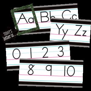 TCR8338 Modern Farmhouse Alphabet Line Bulletin Board Image