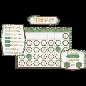 TCR8452 Eucalyptus Calendar Bulletin Board Image