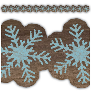 TCR8455 Home Sweet Classroom Snowflakes Die Cut Border Trim Image