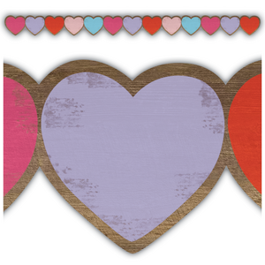 TCR8457 Home Sweet Classroom Hearts Die Cut Border Trim Image
