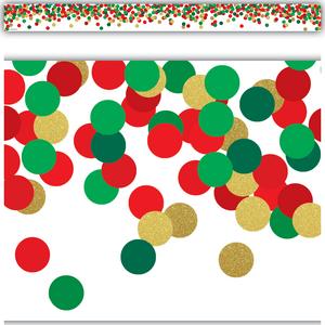 TCR8460 Confetti Christmas Straight Border Trim Image