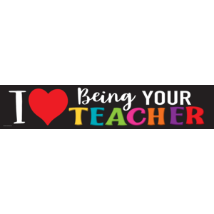 TCR8470 I Love Being Your Teacher Banner Image