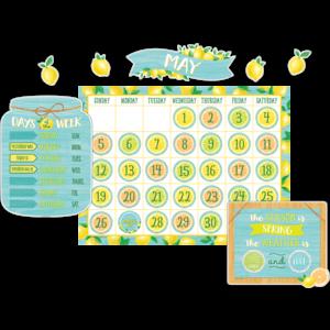 TCR8479 Lemon Zest Calendar Bulletin Board Image
