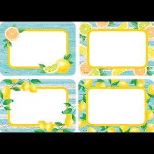 TCR8483 Lemon Zest Name Tags/Labels - Multi-Pack Image