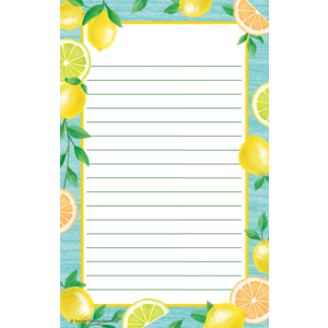 TCR8493 Lemon Zest Notepad Image