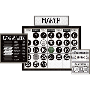 TCR8504 Modern Farmhouse Calendar Bulletin Board Image