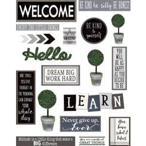 TCR8505 Modern Farmhouse Wall Decor Bulletin Board Image