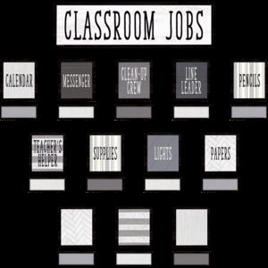 TCR8532 Modern Farmhouse Classroom Jobs Mini Bulletin Board Image