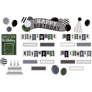 TCR8533 Modern Farmhouse Happy Birthday Mini Bulletin Board Image