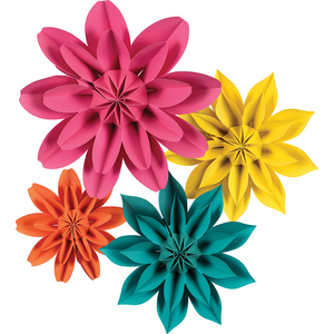 TCR8545 Beautiful Brights Paper Flowers Image